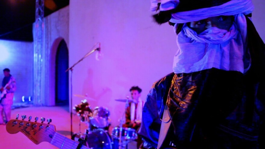 The songs may have changed, and so has the wardrobe, but the battle of the bands still stands at the heart of this Tuareg remake of <em>Purple Rain</em>.
