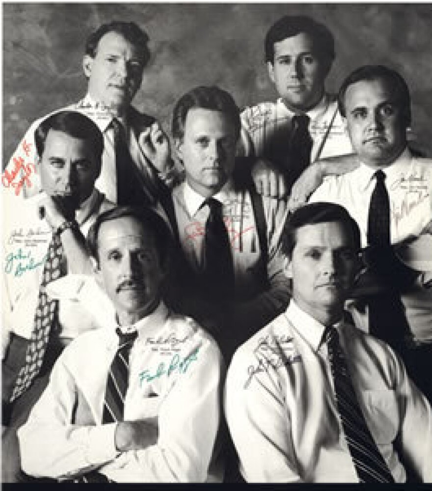 """Boehner with the rest of the fresh-faced """"Gang of Seven,"""" a group of freshman Republicans elected to the House in 1990."""