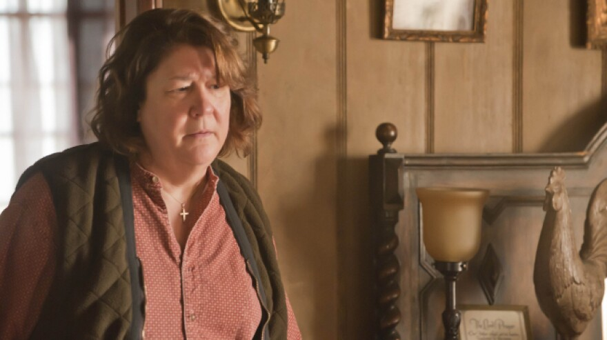 """Margo Martindale is Mags Bennett, a charmingly villainous moonshiner in the FX series <em>Justified</em>. For her performance, Martindale drew on her roots in East Texas and Kentucky. """"It's all part of my makeup. It's something I really understand,"""" she says."""