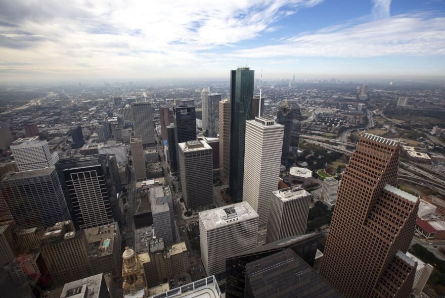 The Houston skyline.