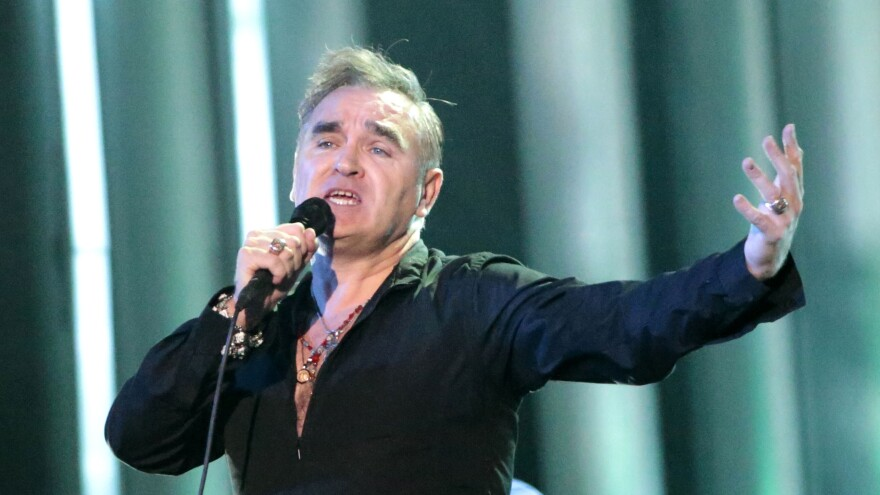 English singer Morrissey performs during the Nobel Peace Prize concert in Oslo in December. The musician told a Spanish newspaper, in a stoic discussion about his health, that he has undergone treatments related to cancer.