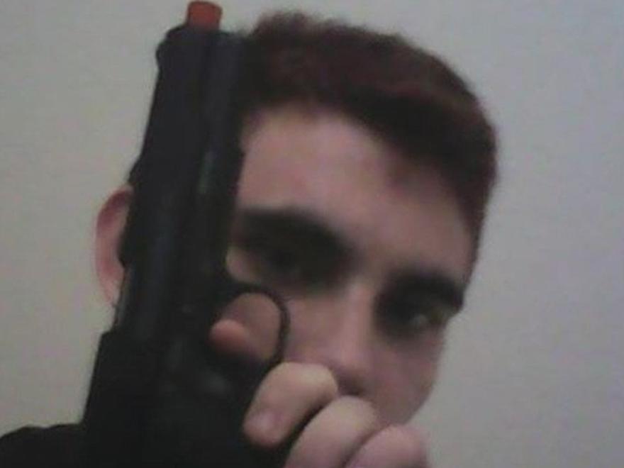 Confessed Parkland school shooter Nikolas Cruz waving a pistol in a recent Instagram post.