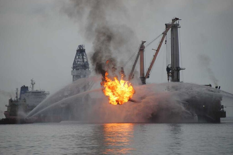 2010 Deepwater Horizon BP Oil Spoil in the Gulf of Mexico.