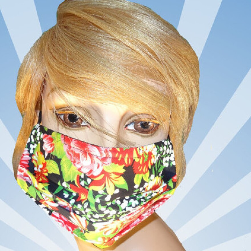 Floral surgical mask from Mouth Shutters.