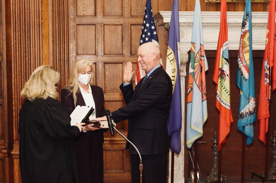 Greg Gianforte was sworn in as Montana's governor on Monday.