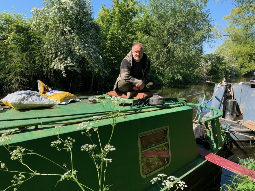 Before the lockdown began, Paddy Screech moved his boat 20 miles north of London, into the countryside. In a separate boat, he runs a floating bookshop.