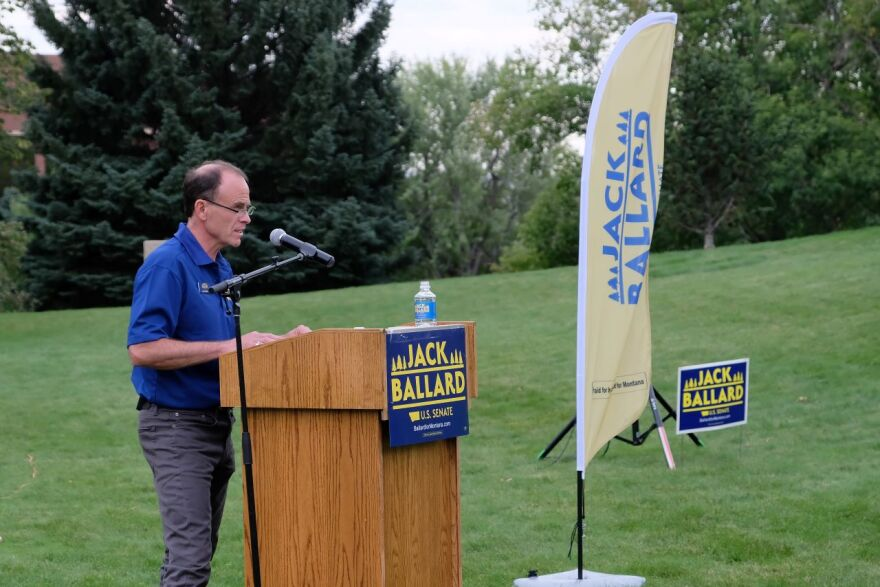 Red Lodge writer and photographer Jack Ballard kicked off his campaign to win the Montana Democratic nomination for U.S. Senate in Billings August 29.