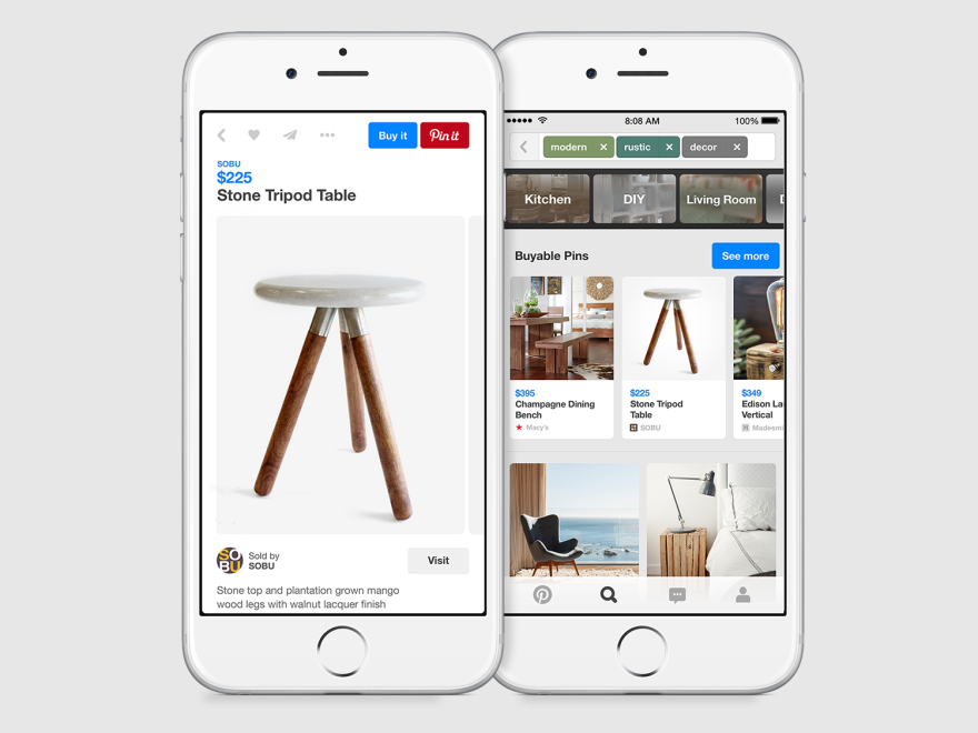 Pinterest will soon allow users to buy products they find directly through the app. The company says users have been asking for that feature for a while.