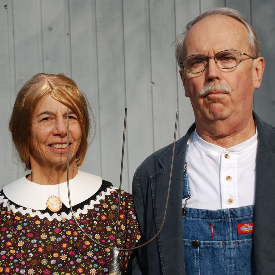 Daniel Ziembo and his art history-teaching wife, Nancy W. Cook, usually coordinate their retooled Halloween costumes. They live in Lake Villa, Ill., and listen to NPR member stations WBEZ and WUWM.