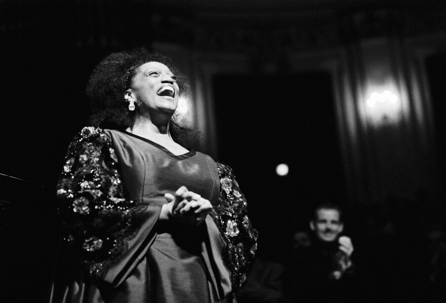 Jessye Norman performs in 1991 at the Concertgebouw in Amsterdam.