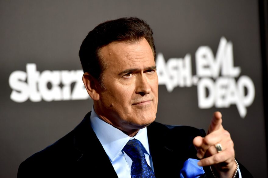 """The photos shows actor Bruce Campbell, who plays Ash Williams in STARZ's """"Ash vs Evil Dead."""" The season two of the show returns this Sunday. (Kevin Winter/Getty Images)"""