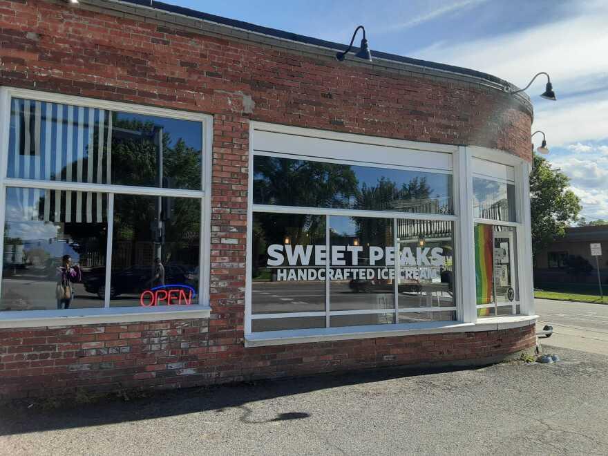 A photo of Sweet Peaks Ice Cream shop taken on June 10, 2020