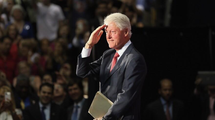Former President Bill Clinton speaks Tuesday at Florida International University in Miami.
