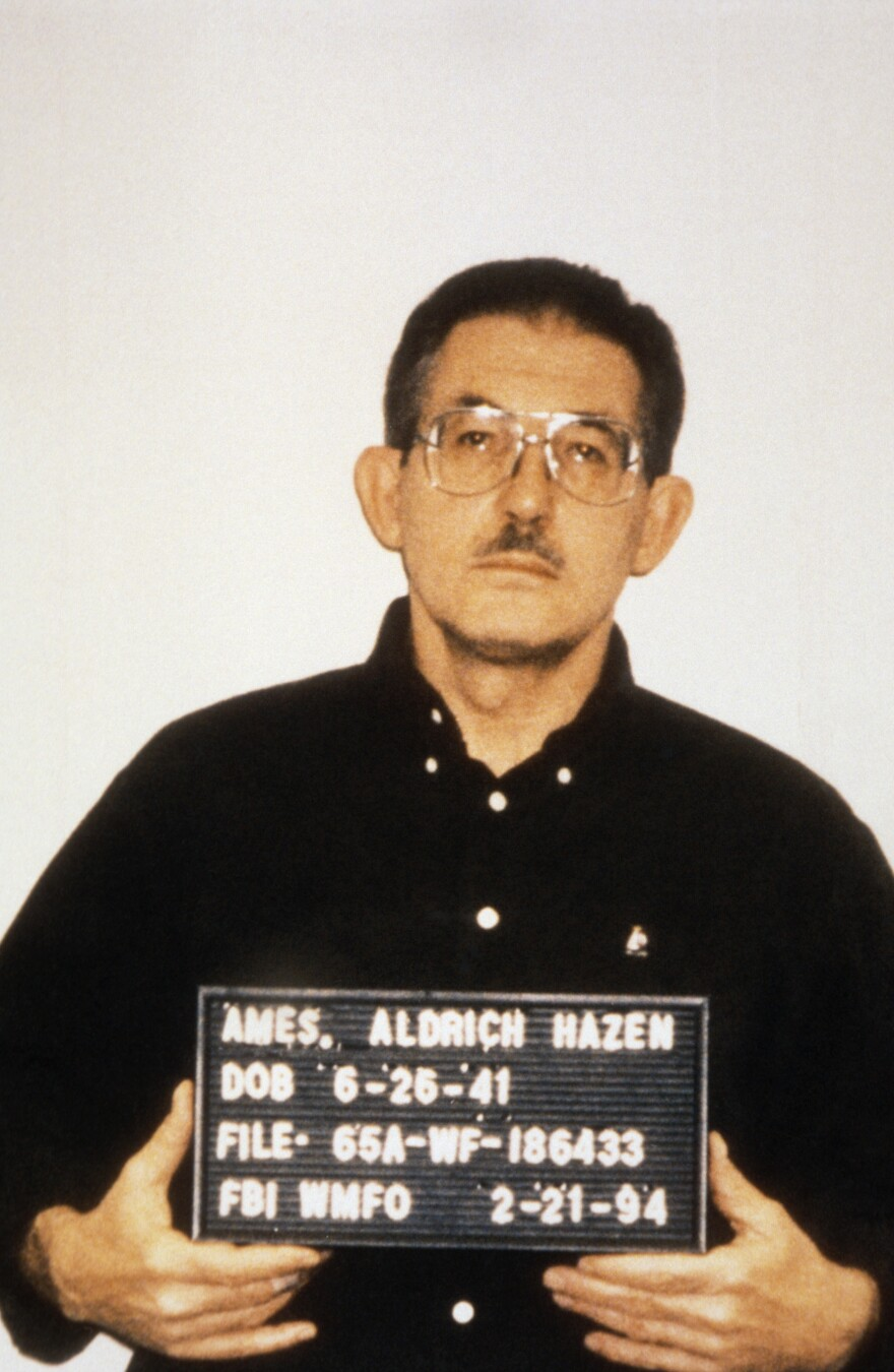 Ames was arrested Feb. 21, 1994, on charges of espionage. He pleaded guilty in April of that year and was sentenced to life without parole.