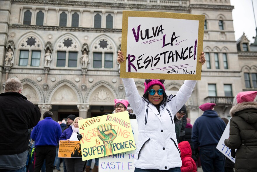 In Hartford, Conn., protesters brought their own messages to their demonstration.