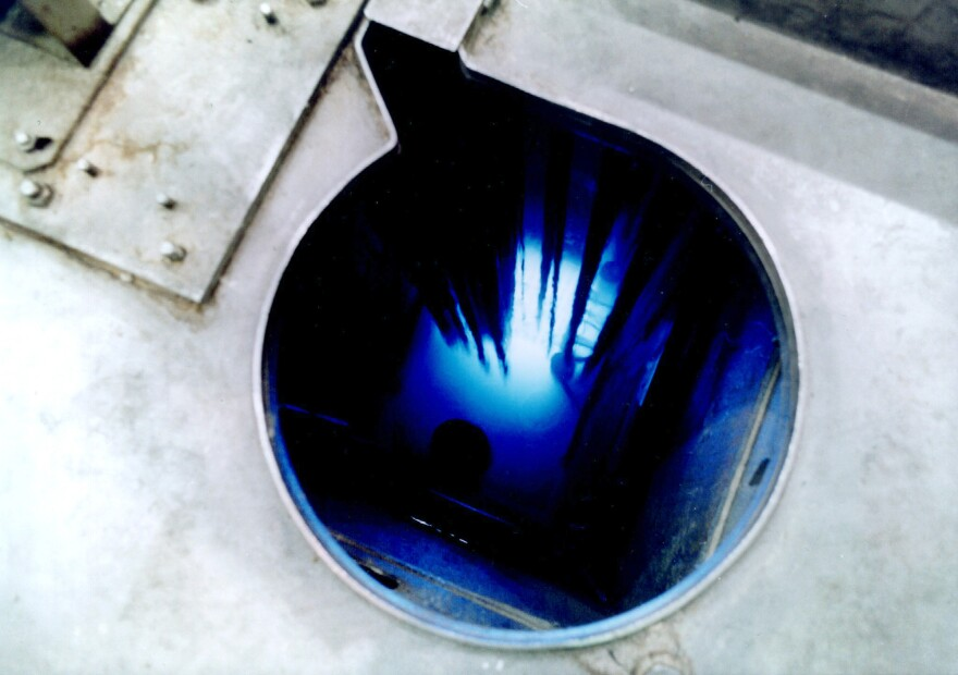 The core of the RBT-3 reactor at the Research Institute of Atomic Reactors in Dimitrovgrad, Russia. Some scientists suspect the institute's work on medical isotopes might explain radioactivity detected over Europe.