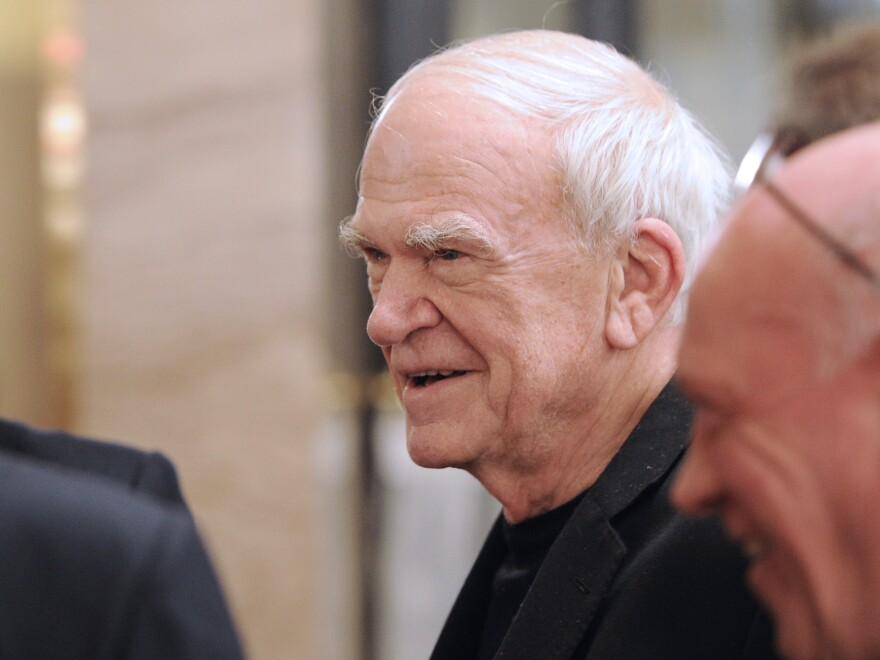 Writer Milan Kundera has had Czech citizenship restored, 40 years after it was revoked and his books banned. Kundera is seen here in 2010 in Paris, where he has lived since leaving Czechoslovakia in 1975.
