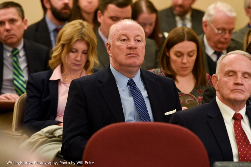 West Virginia Education Association's President Dale Lee attends a Senate Education Committee meeting on Jan. 24 2019.