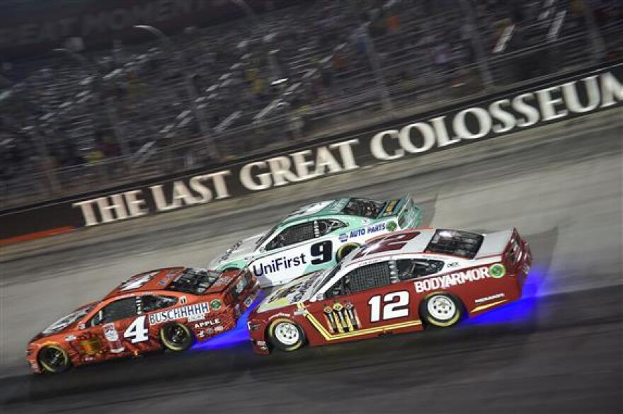 Kevin Harvick (4), Chase Elliott (9) and Ryan Blaney (12) battled during NASCAR's all-star race at Bristol Motor Speedway in July. Next year's race won't come back to Charlotte. Meanwhile, Bristol will covert to dirt for one race.