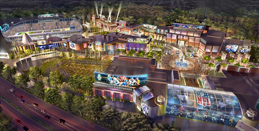photo of Hall of Fame Village concept drawing