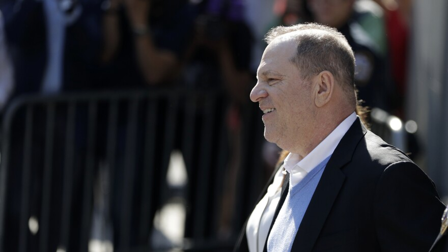 Harvey Weinstein surrendered to law enforcement at the New York Police Department's 1st Precinct in Manhattan in May 2018.