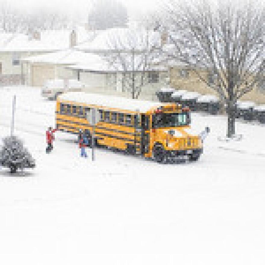 school bus snow day
