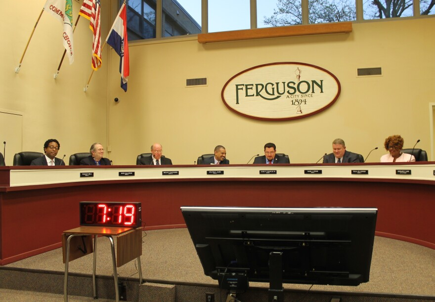 Ferguson new city council met for the first time on Tuesday.