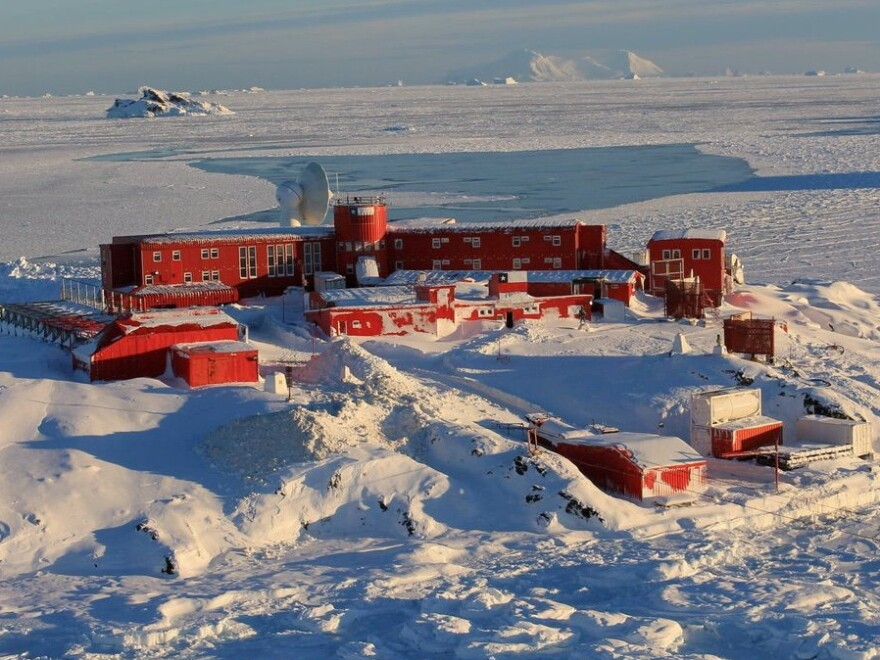 Chilean officials report 36 people have tested positive for the virus on Antarctica. Chile's Bernardo O'Higgins army base is seen in this undated handout photo provided by the Chilean Army on December 22.