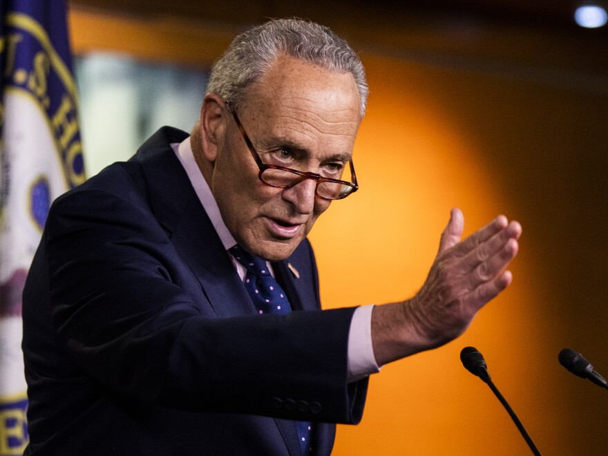 Senate Minority Leader Chuck Schumer, D-N.Y., faulted Republicans over their pandemic relief proposal because he said it came too late and was too stingy. Tough negotiations lie ahead.