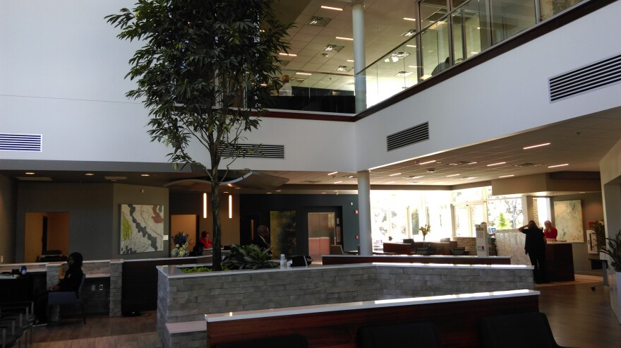 The expansive lobby area of the new Care Point Center