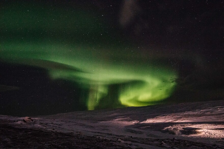 Inuit parents tell their children to beware of the northern lights. If you don't wear your hat in the winter, they'll say, the lights will come, take your head and use it as a soccer ball!