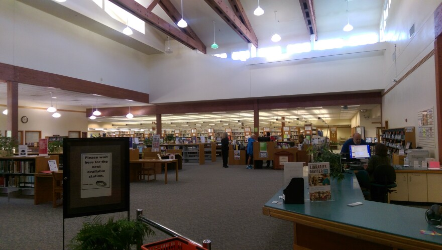 The main room of the Douglas County Library in Roseburg.