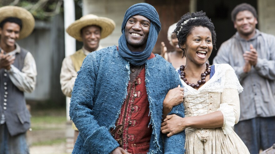 Malachi Kirby and Emayatzy Corinealdi in the new production of <em>Roots</em>.
