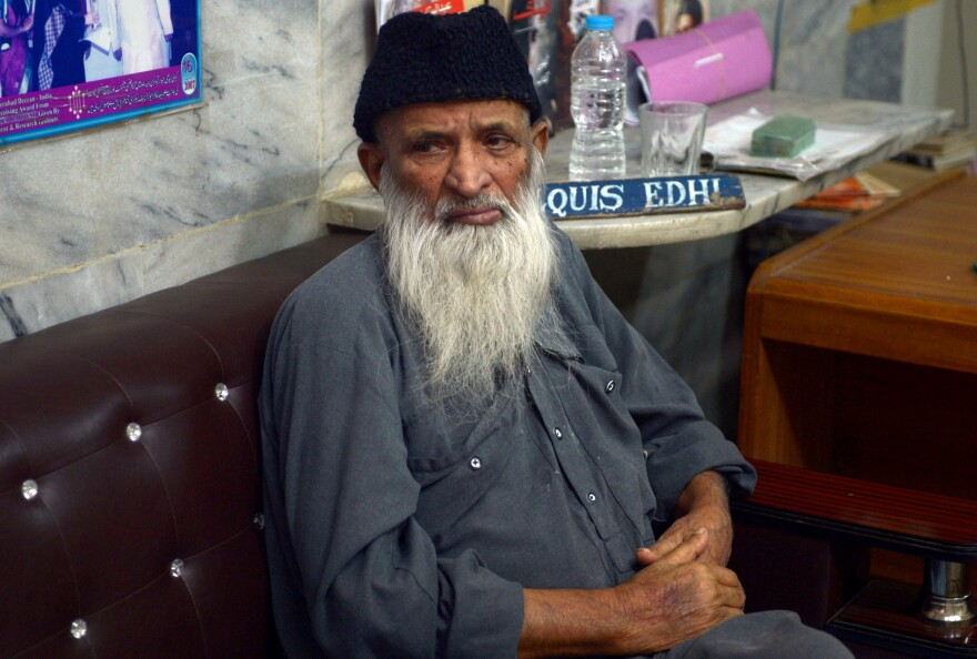 Abdul Sattar Edhi, 86, is an iconic figure in Pakistan who founded and runs the country's best-known charitable group. The Edhi Foundation was robbed of more than $1 million on Sunday, a crime that has provoked outrage.