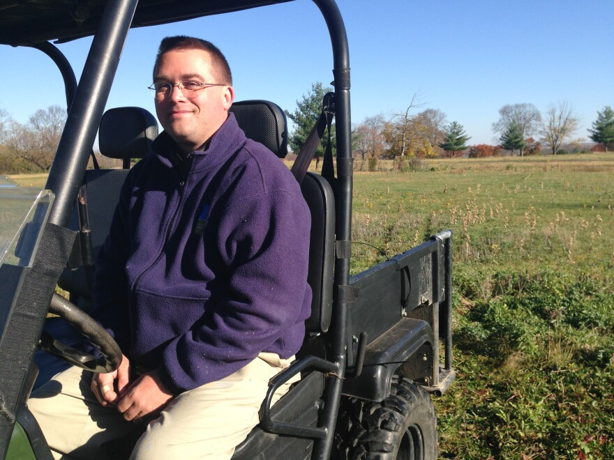 Michael Enright with Five Rivers MetroParks showed WYSO around the former 18-hole golf course in the autumn.