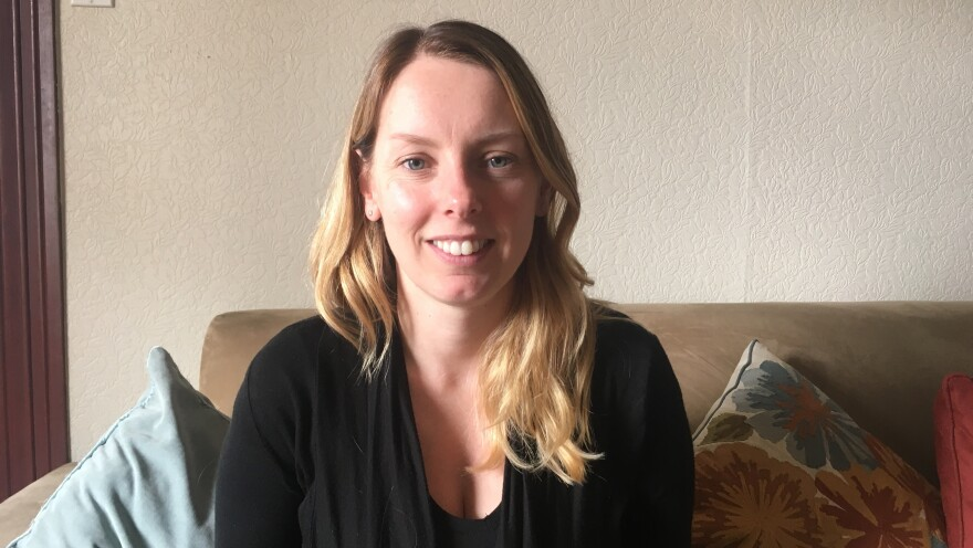 Climate scientist Maria Caffrey at her home in Denver.