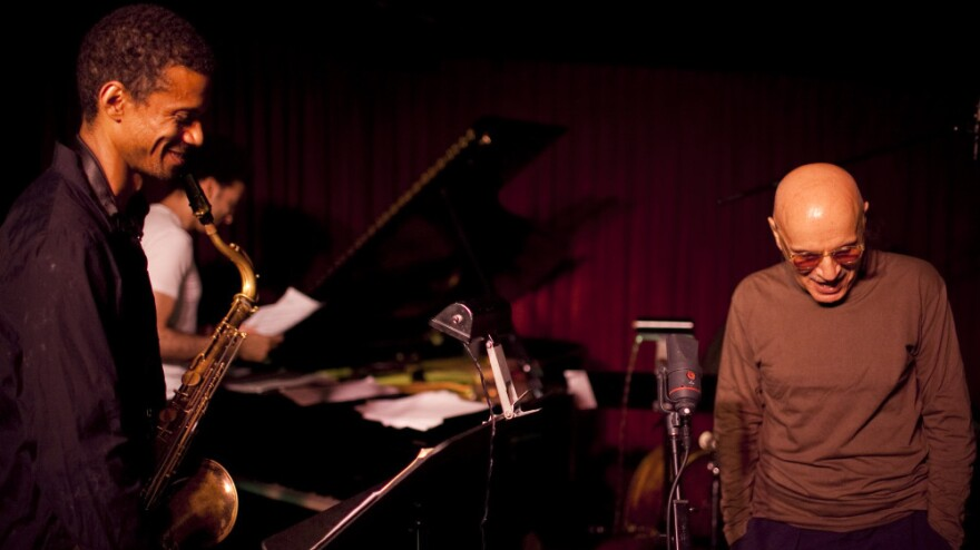 """Mark Turner (left) told <em>JazzSet</em>, """"I consider myself an economical player, not at the top of my voice on every song no matter what, and Paul [Motian] is like that."""""""