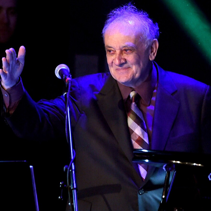 """Angelo Badalamenti appears at """"The Music Of David Lynch"""" in 2015 in Los Angeles. Badalamenti's music has become intertwined with Lynch's work."""