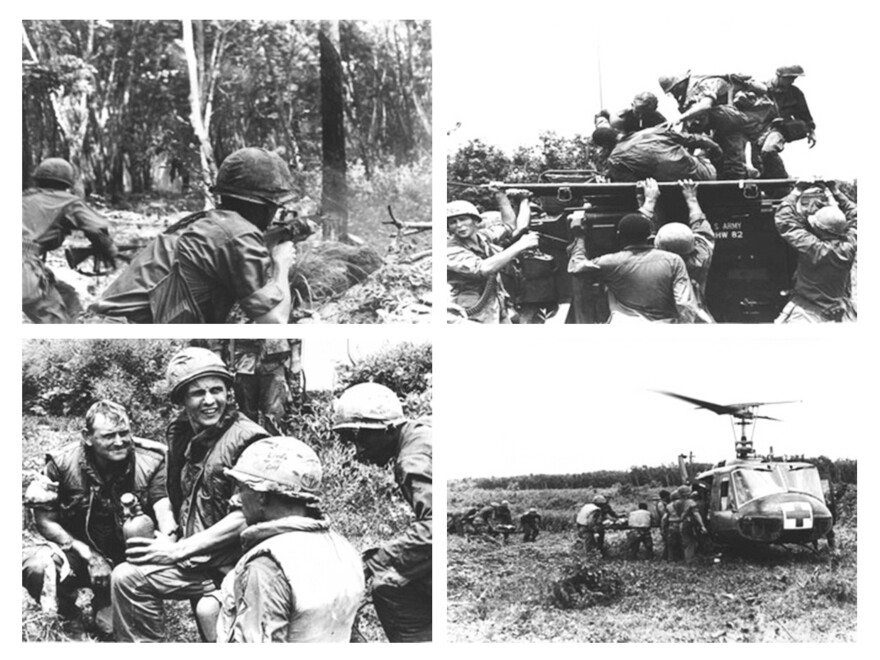 Photos taken by combat reporter Sgt. Don Mousseau during the Battle of Ben Cui.