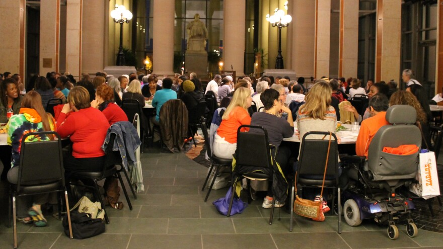 Over 140 Individuals of diverse backgrounds gathered together to discuss issues of race and privilege at Mother 2 Mother Part II on October 13.