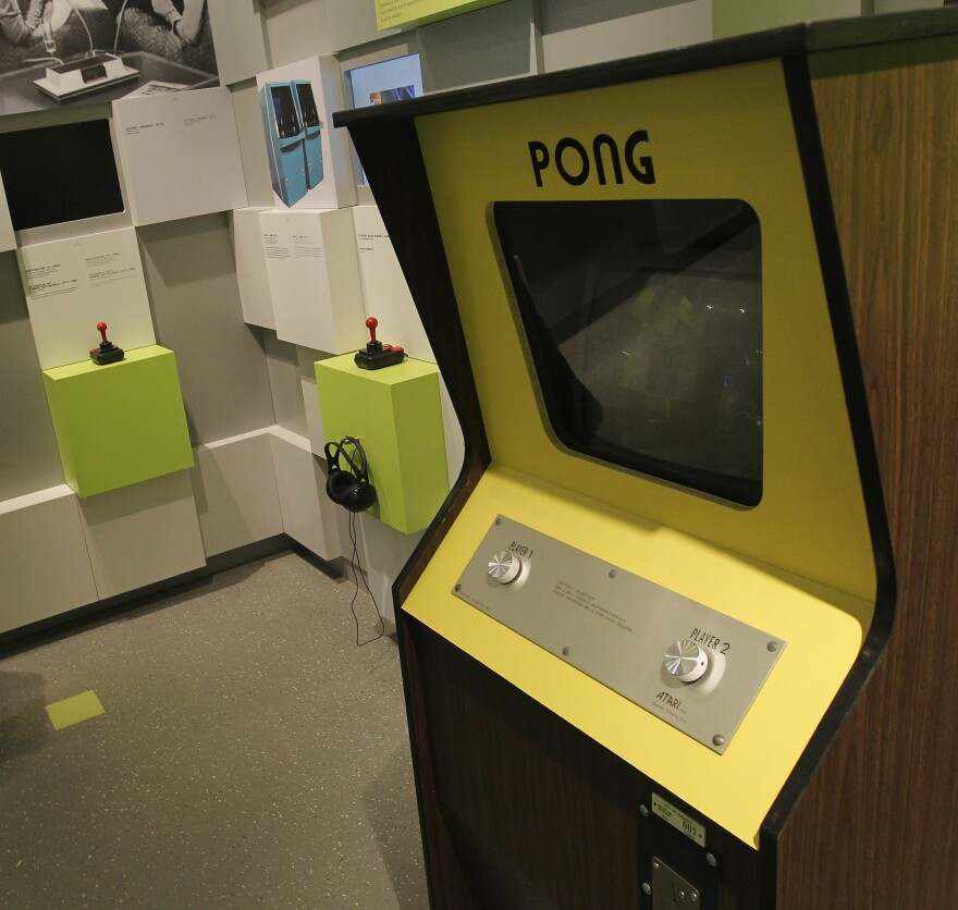 An early console of Pong stands at the Computer Game Museum in Berlin in 2011.