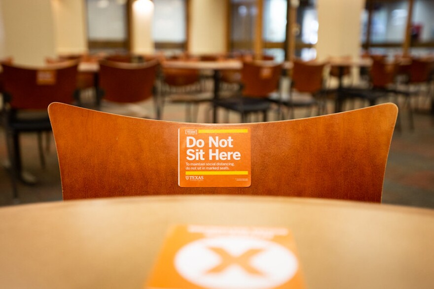 "Many new rules are in place on campus as UT Austin tries to operate safely during the coronavirus pandemic. The school's ""Protect Texas Together"" plan outlines campus health and safety efforts such as social distancing."
