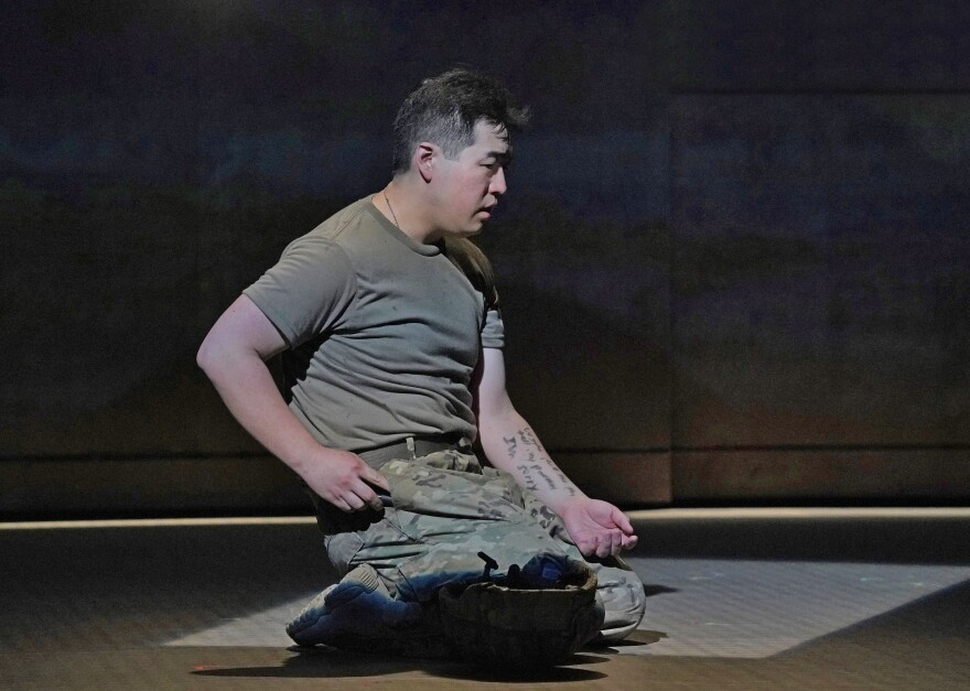 "Andrew Stenson as Private Danny Chen, in the new opera ""An American Soldier.""  6/1/18"