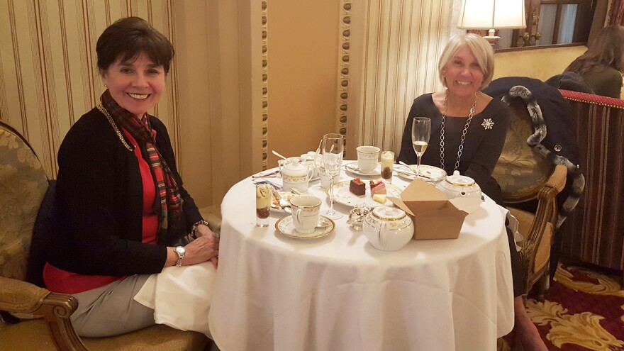 "Sisters Ginger Apyar and Jane Hopson have made Christmas tea at the Willard hotel in D.C. a family tradition. ""You know, you just want some refinement,"" Hopson says."