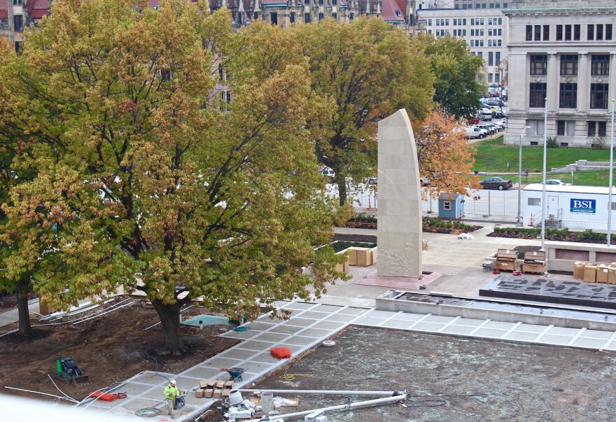 Renovation of the Court of Honor includes a new reflecting pool and fountain.