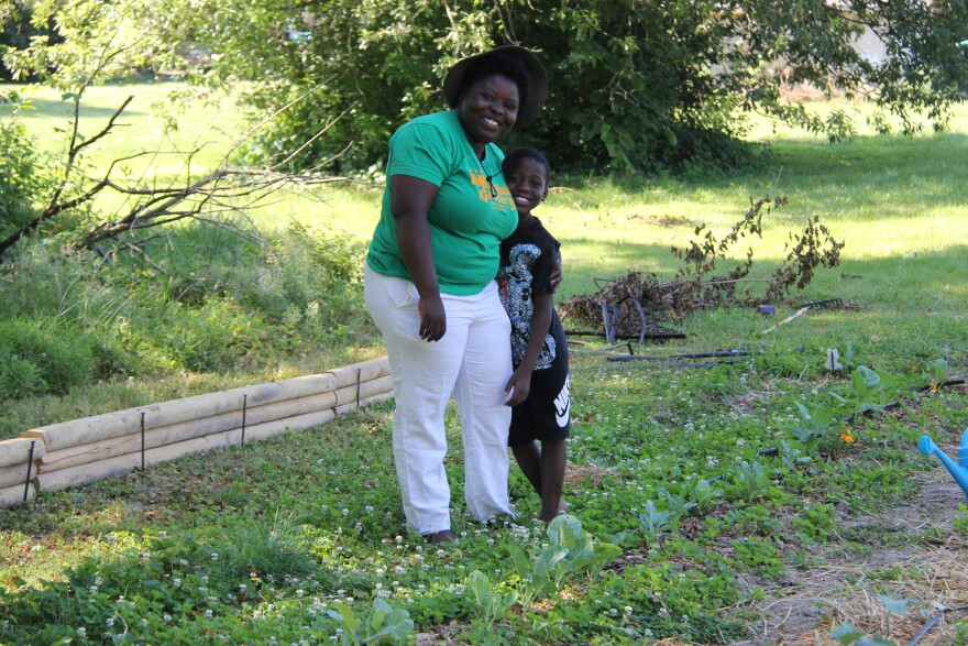 Tosha and Alim Phonix at their family farm in Spanish Village on June 18, 2020.