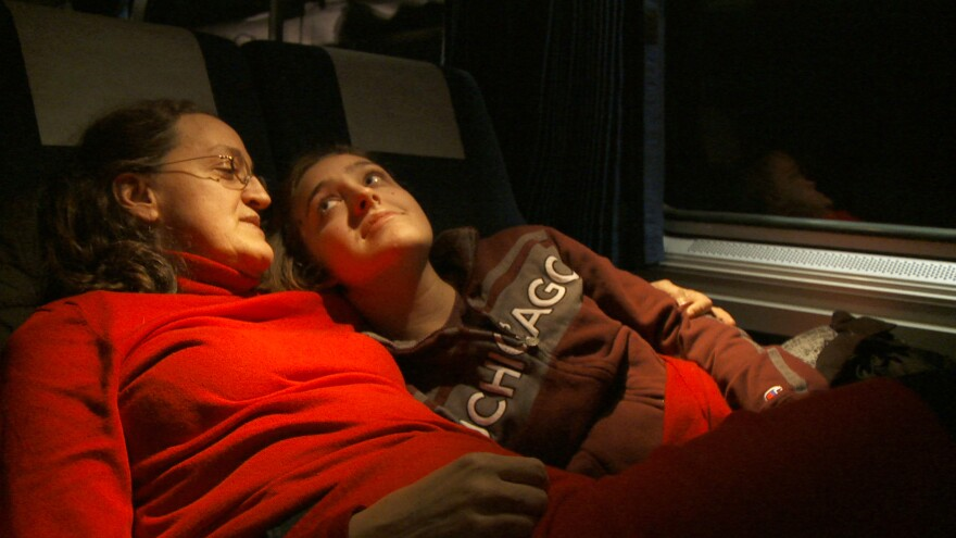 A college student and her mother head west on the Empire Builder in Albert Maysles' <em>In Transit</em>.