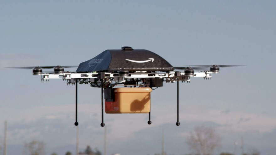 Amazon is developing an unmaned aircraft project that it hopes will deliver purchases in 30 minutes or less. The FAA has been struggling to write regulations for such aircraft, but is expected to release rules this month.