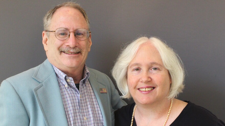 Vaughn Allex and his wife, Denise, on a visit with StoryCorps.