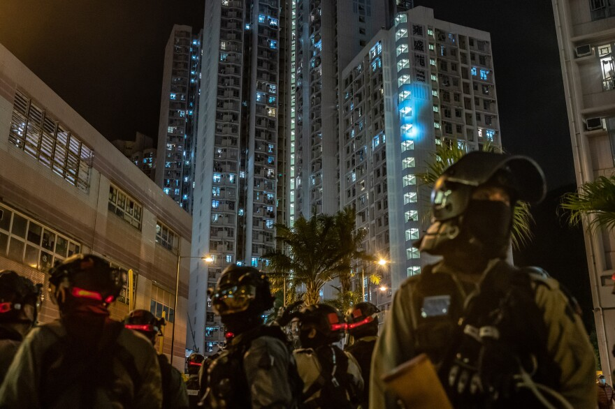 In January, Hong Kong residents protested a proposal to use newly constructed housing as a quarantine site for patients with COVID-19.
